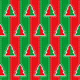 Vector seamless Christmas pattern with Christmas tree