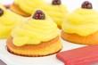 muffin con crema e amarena