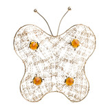 Gold filigree butterfly on a white background poster