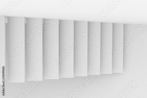 abstract white staircase
