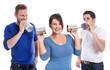 Gruppe junger Leute - Konzept für Kommunikation und Werbung