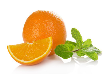 Orange with mint