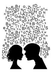 uomo e donna che parlano