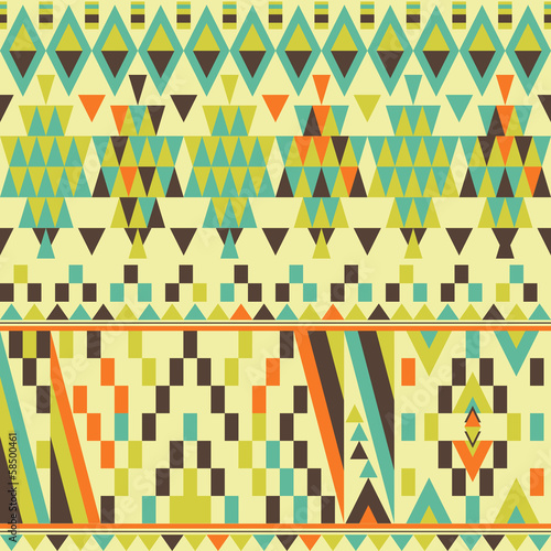 Vector seamless ethnic pattern, trendy background