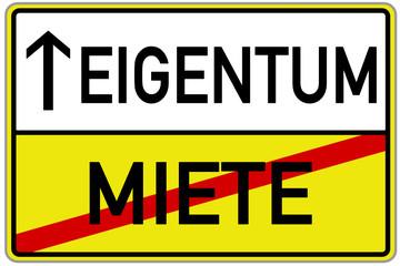 Miete Eigentum Schild  #131118-svg03