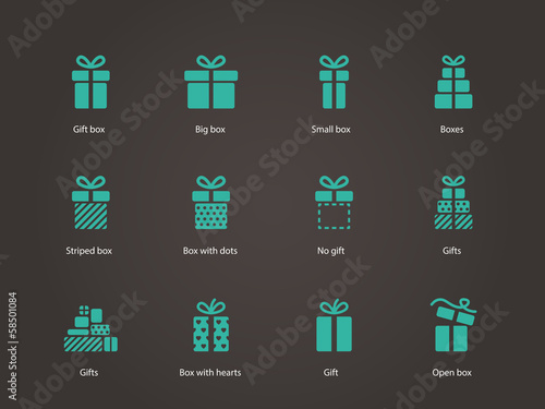 Gift icons. - 58501084