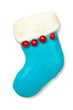 Iced Christmas cookie stocking