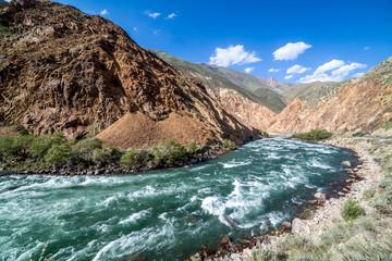 Kekemeren river in Tien Shan mountains, Kyrgyzstan