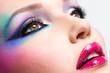 Beautiful woman with fashion bright makeup
