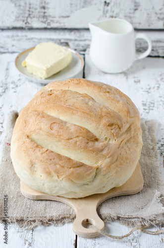 Homemade round bread