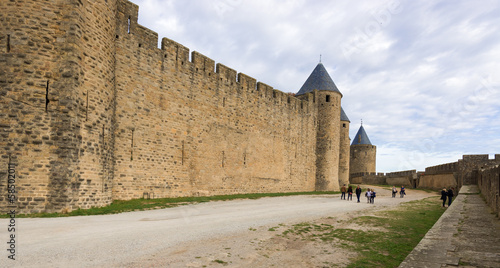 Medieval city of Carcassonne in France