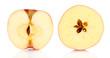 Sliced fruit isolated on white