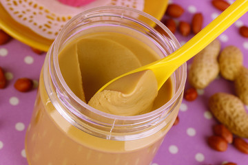 Delicious peanut butter in open bank