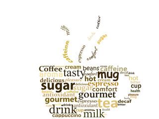 Ilustração de uma chávena relacionada com café