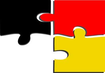 Verbindung der schwarz-roten Koalition in Deutschland
