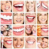 People teeth collage.