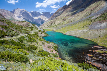 Wonderful mountain lake, Tien Shan, Kyrgyzstan