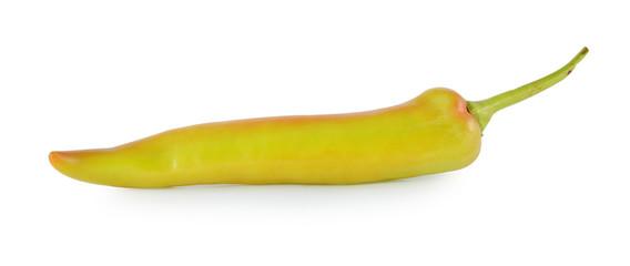 orange pepper isolated on white background