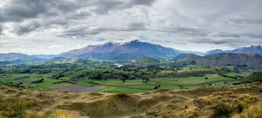 Panoramic image of southern New Zealand