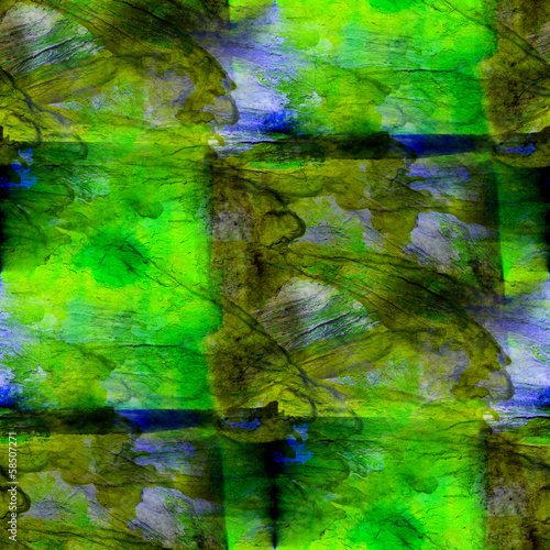 background green, blue watercolor art seamless texture abstract