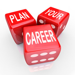 Plan Your Career Dice Gamble Future Opportunity