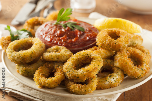 Homemade Fried Breaded Calamari