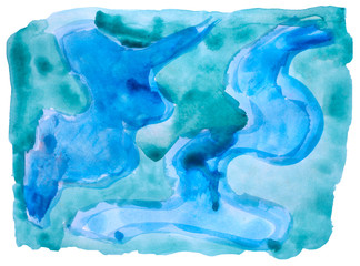 table blue spot chart stroke paint brush watercolor isolated