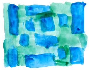 table blue, green mesh chart stroke paint brush watercolor isola