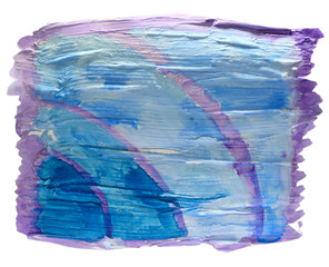 table blue, purple chart stroke paint brush watercolor isolated