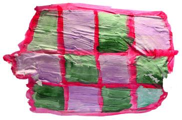 table green, purple, net chart stroke paint brush watercolor iso