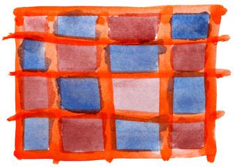 table orange blue red mesh chart stroke paint brush watercolor i
