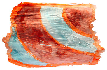 table orange, blue chart stroke paint brush watercolor isolated