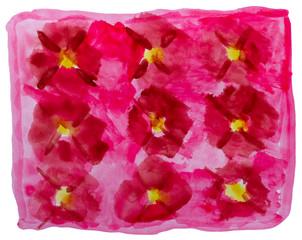 table red yellow ornament mesh chart stroke paint brush watercol