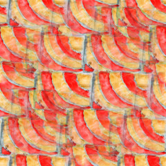 yellow, red, stripes ornament grunge texture, watercolor ornamen