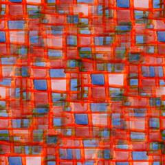 ornament grunge orange, blue, square texture, watercolor ornamen