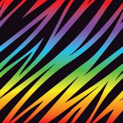 Rainbow Zebra Pattern
