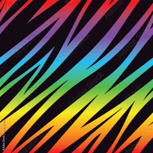 Rainbow Zebra Pattern
