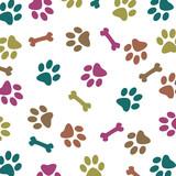 Fototapety Multi-Colored Paw Pattern