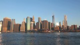 New York City cityscape panorama at sunrise