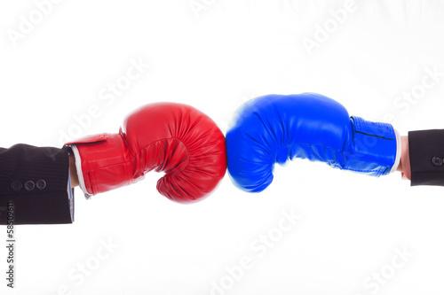 Staande foto Stierenvechten Businessman boxing