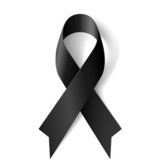 Black ribbon.