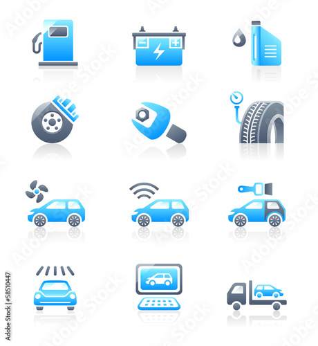Car service icons | MARINE series
