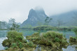 Karst mountain landscape in Yangshuo Guilin, China