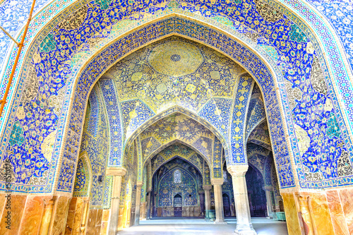 Imam Mosque viewed from entrance in Isfahan, Iran