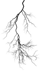 black complicated lightning on white