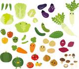 たくさんの野菜のキャラクター