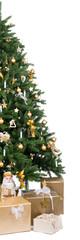 angeschnittener weihnachtsbaum