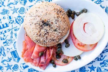 smoked salmon burger
