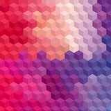 Fototapety Multicolor cubic mosaic.