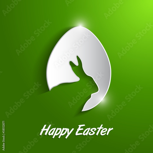 paper egg with shadow Easter card